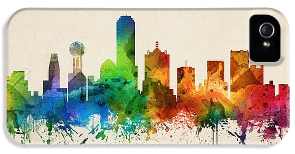 Dallas Texas Skyline 05 IPhone 5 Case by Aged Pixel