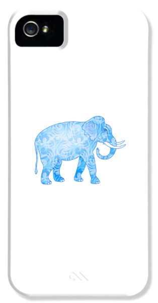 Damask Pattern Elephant IPhone 5 Case by Antique Images