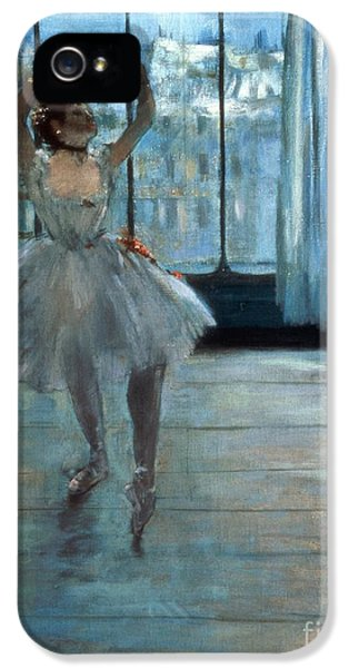 Dancer In Front Of A Window IPhone 5 Case by Edgar Degas