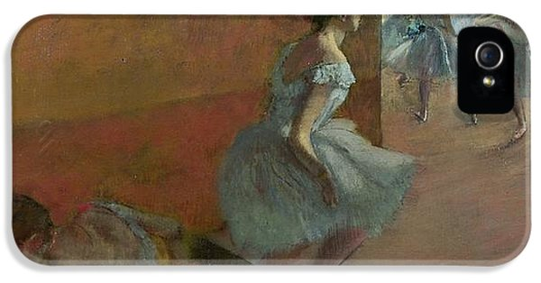 Dancers Ascending A Staircase IPhone 5 Case by Edgar Degas