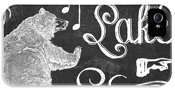 Dancing Bear Lake Rustic Cabin Sign IPhone 5 Case