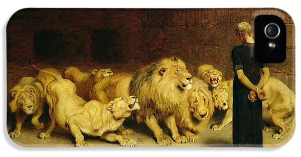 Dungeon iPhone 5 Case - Daniel In The Lions Den by Briton Riviere