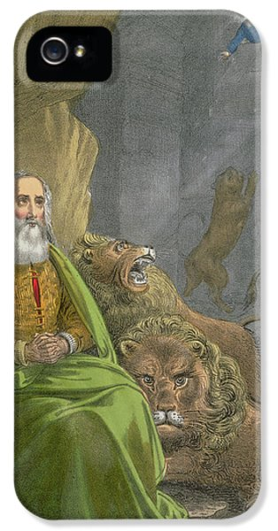 Dungeon iPhone 5 Case - Daniel In The Lions' Den by Siegfried Detler Bendixen