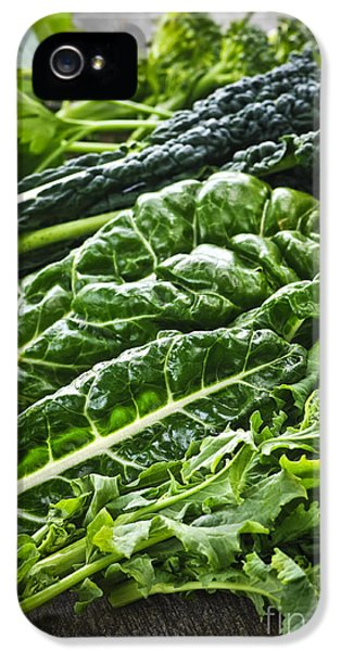 Dark Green Leafy Vegetables IPhone 5 Case by Elena Elisseeva