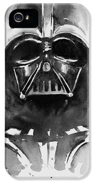 Day iPhone 5 Case - Darth Vader Watercolor by Olga Shvartsur