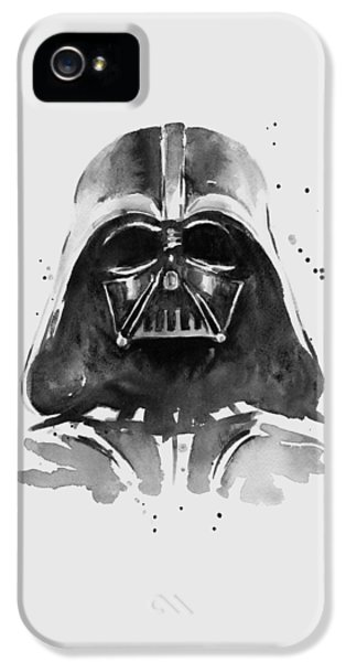 Portraits iPhone 5 Case - Darth Vader Watercolor by Olga Shvartsur