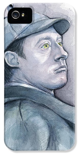 Data As Sherlock Holmes IPhone 5 Case by Olga Shvartsur