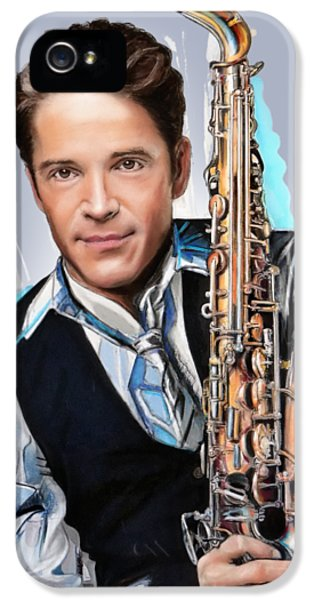 Saxophone iPhone 5 Case - Dave Koz by Melanie D