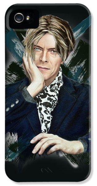 David Bowie IPhone 5 Case by Melanie D