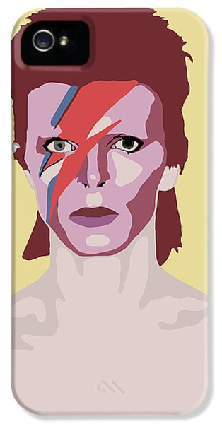 David Bowie IPhone 5 Case by Nicole Wilson