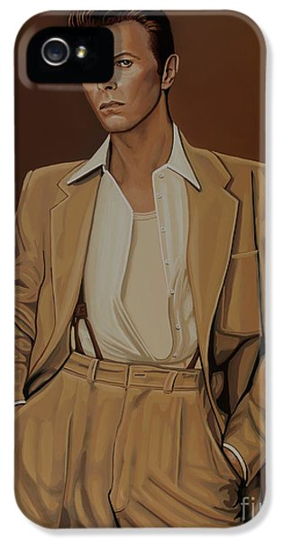 David Bowie Four Ever IPhone 5 Case by Paul Meijering
