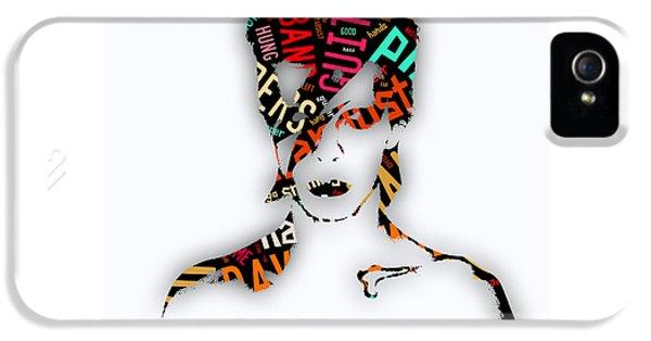David Bowie Ziggy Stardust Song Lyrics IPhone 5 Case by Marvin Blaine