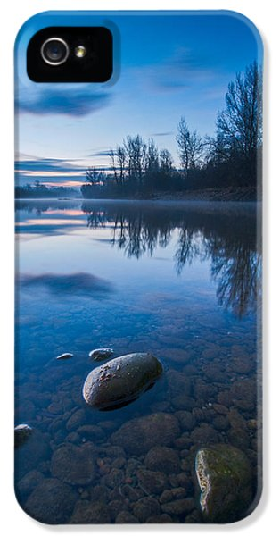 Blue Tree iPhone 5 Cases - Dawn at river iPhone 5 Case by Davorin Mance