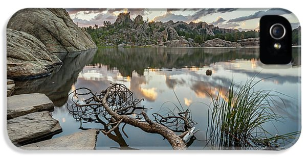 IPhone 5 Case featuring the photograph Dawn At Sylvan Lake by Adam Romanowicz