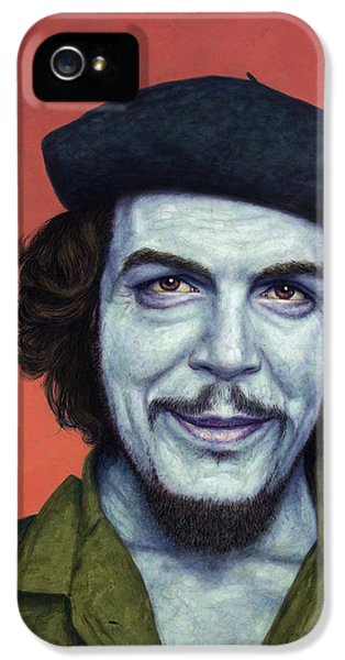 Dead Red - Che IPhone 5 Case by James W Johnson