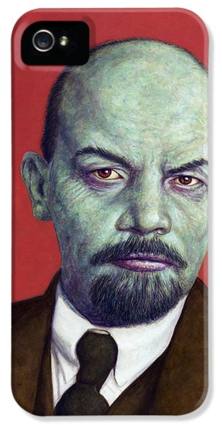 Dead Red - Lenin IPhone 5 Case by James W Johnson