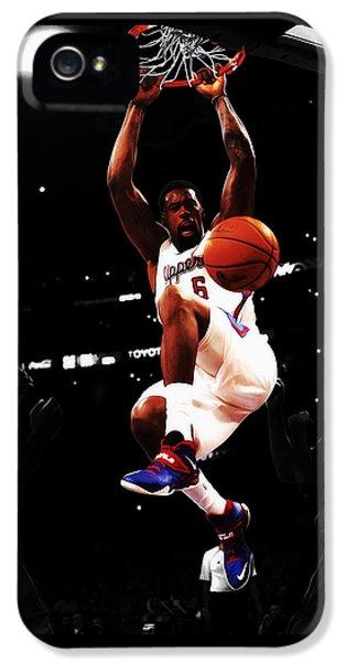 Deandre Jordan  IPhone 5 Case by Brian Reaves