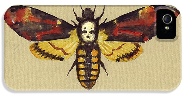 Hawk iPhone 5 Case - Death Head Hawk Moth by Juan Bosco