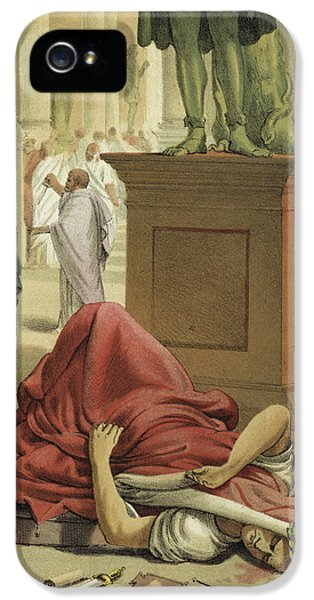 Death Of Julius Caesar, Rome, 44 Bc  IPhone 5 Case by Spanish School