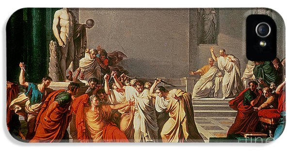 Death Of Julius Caesar IPhone 5 Case by Vincenzo Camuccini