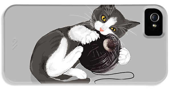 Cats iPhone 5 Case - Death Star Kitty by Olga Shvartsur