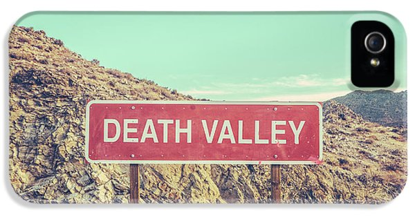 Landscape iPhone 5 Case - Death Valley Sign by Mr Doomits