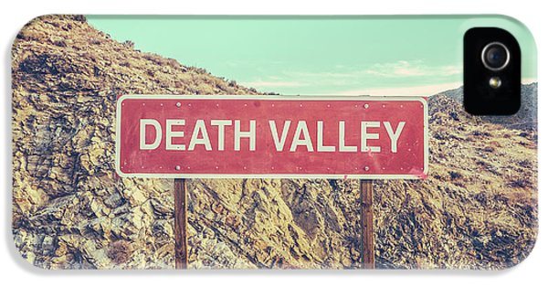 Mountain iPhone 5 Case - Death Valley Sign by Mr Doomits