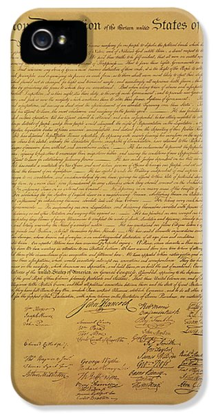 Declaration Of Independence IPhone 5 Case by American School