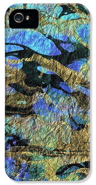 Deep Blue Abstract Art - Deeper Visions 1 - Sharon Cummings IPhone 5 Case by Sharon Cummings