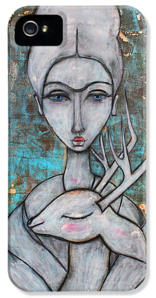 Deer Frida IPhone 5 Case by Natalie Briney