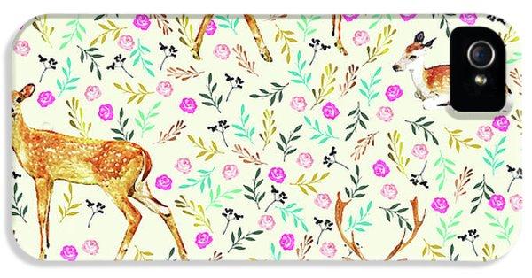 Deers IPhone 5 Case by Uma Gokhale