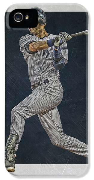 Derek Jeter iPhone 5 Case - Derek Jeter New York Yankees Art 2 by Joe Hamilton