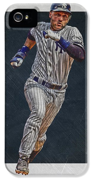 Derek Jeter iPhone 5 Case - Derek Jeter New York Yankees Art 3 by Joe Hamilton