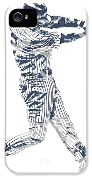 Derek Jeter iPhone 5 Case - Derek Jeter New York Yankees Pixel Art 10 by Joe Hamilton