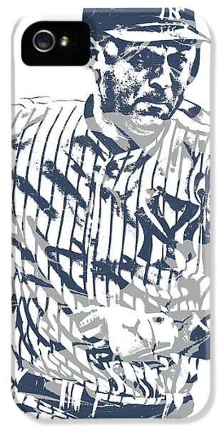 Derek Jeter iPhone 5 Case - Derek Jeter New York Yankees Pixel Art 12 by Joe Hamilton