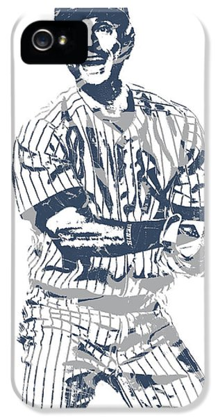 Derek Jeter iPhone 5 Case - Derek Jeter New York Yankees Pixel Art 13 by Joe Hamilton