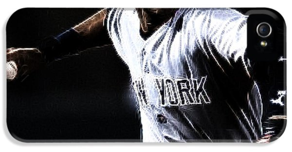 Derek Jeter iPhone 5 Case - Derek Jeter by Paul Ward