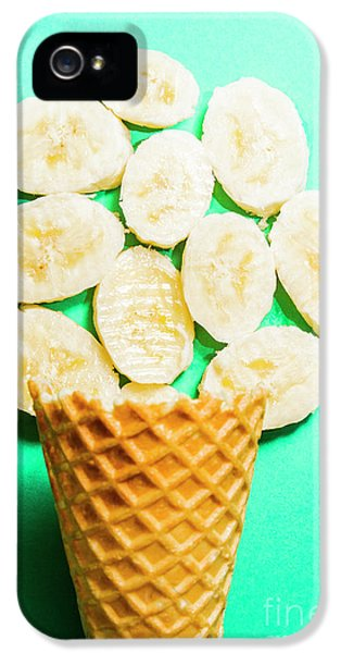 Desert Concept Of Ice-cream Cone And Banana Slices IPhone 5 Case by Jorgo Photography - Wall Art Gallery