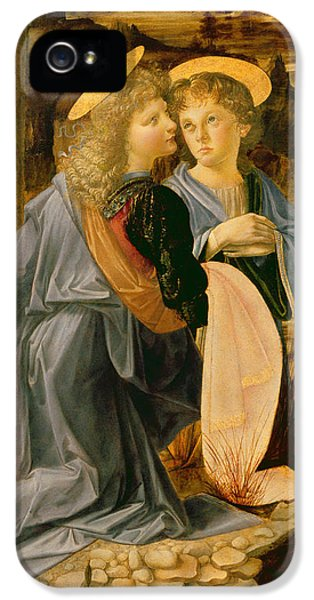 Detail Of The Baptism Of Christ By John The Baptist IPhone 5 Case by Andrea Verrocchio and