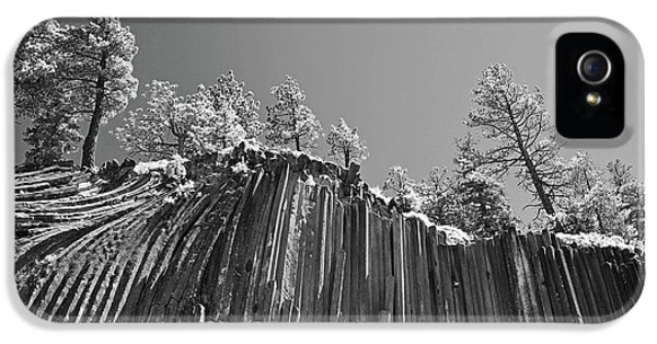 Infrared iPhone 5 Cases - Devils Postpile - Frozen columns of lava iPhone 5 Case by Christine Till