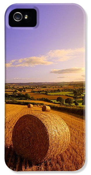 Devon Haybales IPhone 5 Case by Neil Buchan-Grant