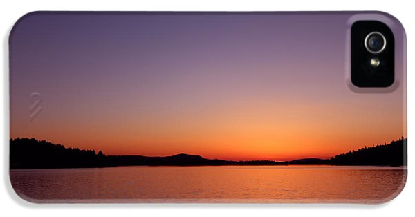 Dexter Lake Sunset IPhone 5 Case by Kami McKeon