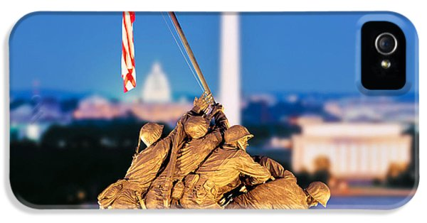 Digital Composite, Iwo Jima Memorial IPhone 5 Case by Panoramic Images