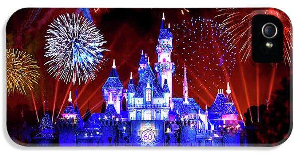 Disneyland 60th Anniversary Fireworks IPhone 5 Case by Mark Andrew Thomas