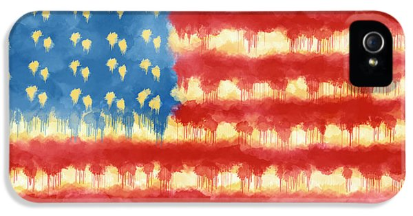 Distressed American Flag IPhone 5 Case by Skip Nall