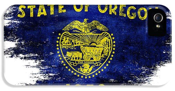 Oregon State iPhone 5 Case - Distressed Oregon Flag by Jon Neidert