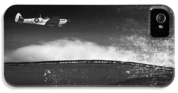 Meadow iPhone 5 Cases - Distressed Spitfire iPhone 5 Case by Meirion Matthias