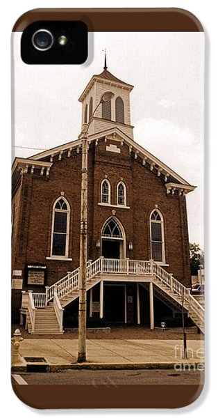 Doctor Martin Luther King Church In Montgomery Alabama  IPhone 5 Case by John Malone