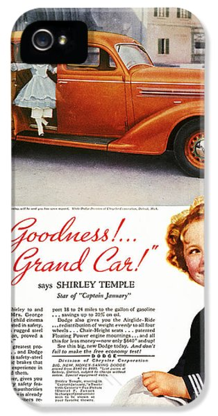 Dodge Automobile Ad, 1936 IPhone 5 Case by Granger