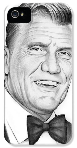 Dolph Lundgren IPhone 5 Case by Greg Joens